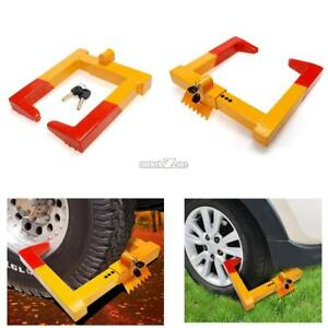 Wheel Chock Lock Clamp Boot Tire Claw Trailer Auto Car Truck Anti Theft Towing