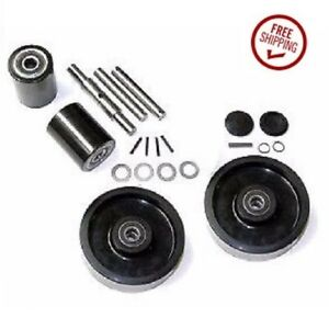 Wesco 272748 Pallet Jack Wheel Kit complete Wic2 includes All Parts Shown