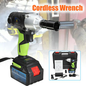 68v Cordless Electric Wrench 420nm 1 2 Chuck Rechargeable 8 0ah Li Ion Battery