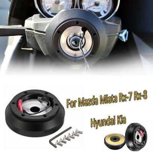 Steering Wheel Short Hub Adapter Quick Release Kit For Mazda Miata Rx 7 Rx 8 T