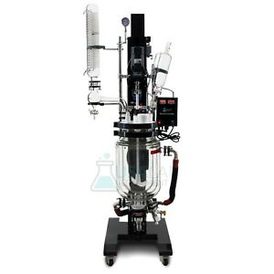 Usa Lab 10l Electric Lift Triple Jacketed Glass Reactor