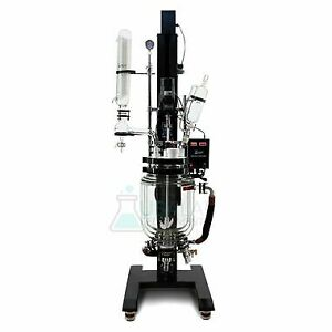 Usa Lab 20l Electric Lift Triple Jacketed Glass Reactor
