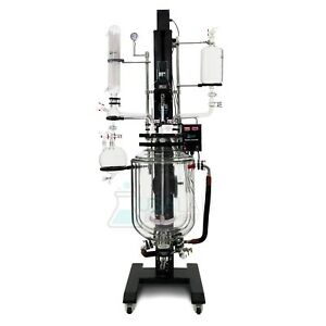 Usa Lab 50l Electric Lift Triple Jacketed Glass Reactor