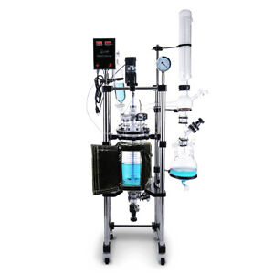 Usa Lab 10l Double Jacketed Glass Reactor