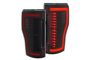 Black Full Led Tail Lights For 17 18 Ford F250 F350 F450 Superduty Rh Lh