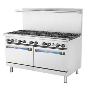 Turbo Air Tar 10 60 In Restaurant Range W 10 Burners Standard Oven