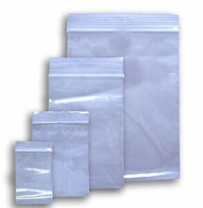 Clear Reclosable Zip Lock Plastic 2 mil Bags