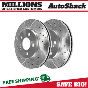 Front Drilled Slotted Performance Rotors Pair 2 For 02 2004 Toyota Camry 96820