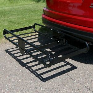 Sunnydaze 500lb Load Capacity Basket Style Hitch Mounted Cargo Carrier Rack