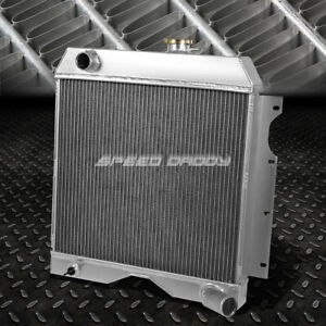 For 54 58 Willys Jeep Truck Wagon 6cyl 3 Row Core Full Aluminum Racing Radiator