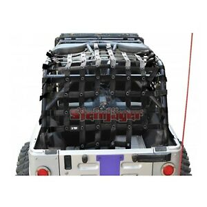 Steinjager J0047376 Premium Cargo Net For Jeep Wrangler Tj Unlimited lj