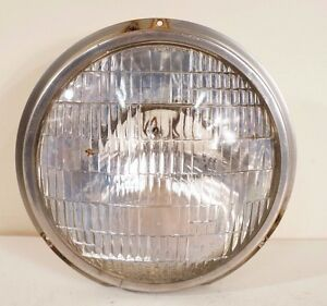 Vintage Westinghouse Sealed Beam Head Lamp Light Electroline Stainless Ring Old
