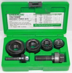Greenlee Ball Bearing Knockout Punch Set 735 735bb