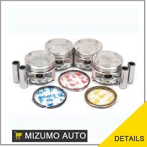 Pistons W Rings 0 50mm Fit Honda Civic Si Ex Crx 1 6l D16a6 Sohc