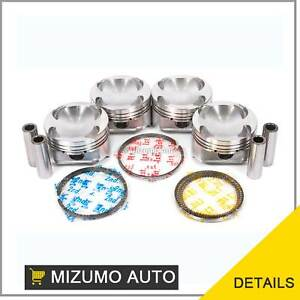Pistons W Rings 1 00mm Fit Mazda 626 Protege Ford Probe Fs 2 0l