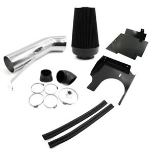 Car Cold Air Intake Pipe Hose Filter Kit W Heat Shield For 99 06 Chevrolet V8