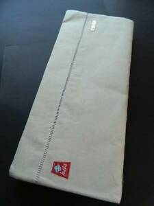 Pair Of Vintage Unused French Natural Rustic Metis Linen Sheets 96 X 120