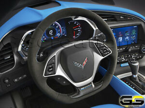 2014 19 Corvette C7 Grand Sport Steering Wheel Blue Stitching Collectors Edition