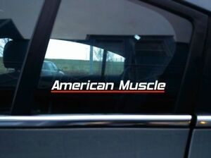 American Muscle Classic Muscle Car Sticker Retro Decal
