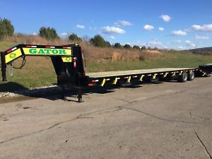 35 10 Gator Gooseneck Hot Shot Hydraulic Dovetail Trailer With Air Ride