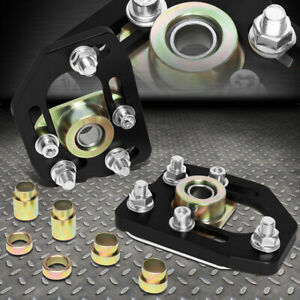 For 90 93 Ford Mustang Front Adjustable 3 0 Camber 2 0 Caster Plates Black