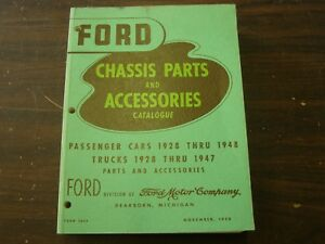 Nos Oem Ford 1928 1948 Master Parts Book Car Truck 1929 1930 1931 1932 1933 1934