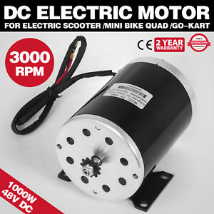 1000w 48v Dc Electric Motor Scooter Bike Ty1020 Permanent Reversible 11 Teeth