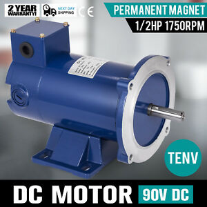 Dc Motor 1 2hp 56c Frame 90v 1750rpm Tenv Magnet Permanent Grease 5 0a Usa