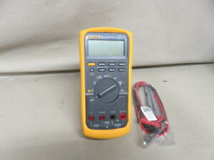 Nice Fluke 87v 87 V Industrial True Rms Digital Volt Meter Multimeter Leads