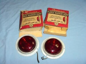 Nos Vintage Antique Do ray Stop Tail Marker Clearance Turn Signal Lights