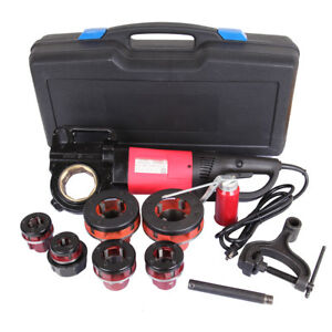 Portable Handheld Electric Pipe Threader With 6 Dies Threading Machine 1 2 2