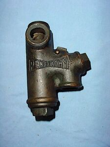 Vintage Antique Penberthy Brass Steam Engine Boiler Pump Injector