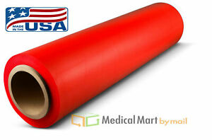 28 Rolls Red Tinted Color Stretch Wrap Hand Film 18 Inch X 1500ft X 80 Ga