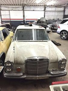 Mercedes W108 280se 280s Donor Car For Parts Engine Automatic Transmission