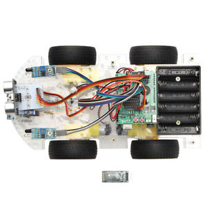 4wd Fits For Arduino Motor Starter Programmable Learning Control Car Kit Robot