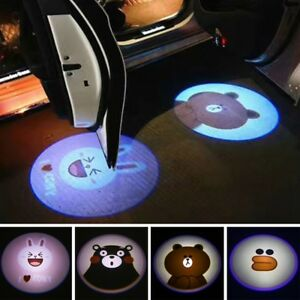 2pcs Wireless Car Door Led Welcome Laser Projector Logo Ghost Shadow Light Lamp