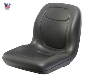 Lawn Garden Mower Seat Black For Kubota Compact Tractor Skid Steer Loader Utv