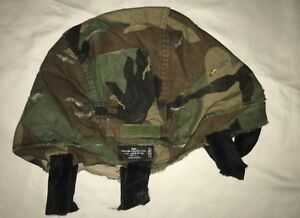 US ARMY MSA MICH ACH HELMET COVER CAMO REVERSIBLE WOODLAND TO DESERT MDLG USED