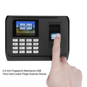 2 4 Fingerprint Time Attendance Recorder Clock Finger Scanner Employee Device