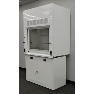 New White Chemical Laboratory 4 Fume Hood W Epoxy Top And Base Cabinet New