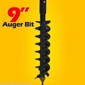 9 X 48 Auger Bit For Mini Skid Steer Auger Drive W 2 5 Round Drive fits Most