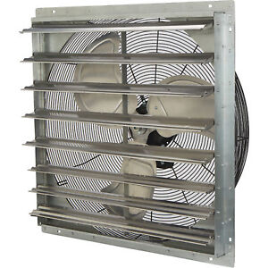 Strongway Enclosed Direct Drive Shutter Exhaust Fan 30in 2speed 4665 4168cfm