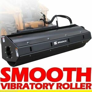Smooth Vibratory Roller Attachment For Skid Steer Loaders 66 7800 Lbs Force