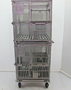 Primate Ape Monkey Cage Stainless Steel Cage Dual Stack