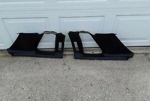 73 77 Pontiac Grand Prix Black Rear Panels 1974 1975 1976 1977 Interior Uppers