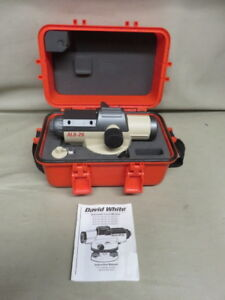 David White Al8 26 Power Automatic Optic Transit Level With Case