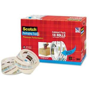 Scotch 3850 Premium Packaging Tape Cabinet Pack case Of 18