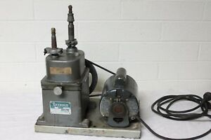 Leybold High Vacuum Pump With Motor By lapine Model 2 d