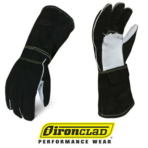 Ironclad Mig Welder Premium Buffalo Cowhide Leather Welding Gloves Select Size