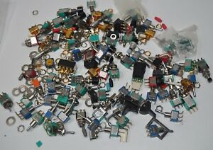 Huge Lot Of Mini Micro Switches Pushbutton Toggle Dialight Jbt C